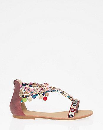 Embellished T-Strap Sandal