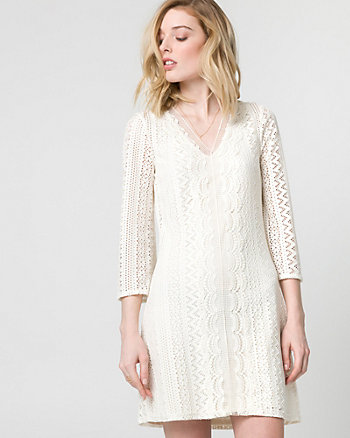 Knit Crochet Tunic Dress