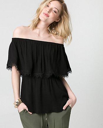 Viscose Off-the-Shoulder Blouse