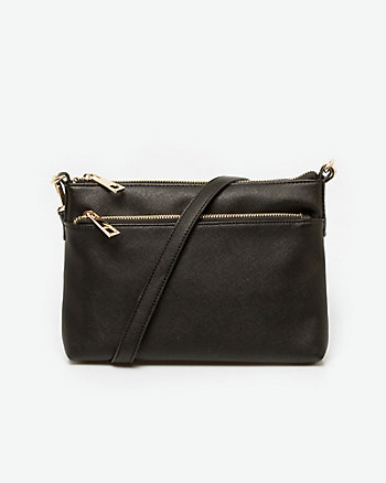 Textured Leather-Like Crossbody Bag
