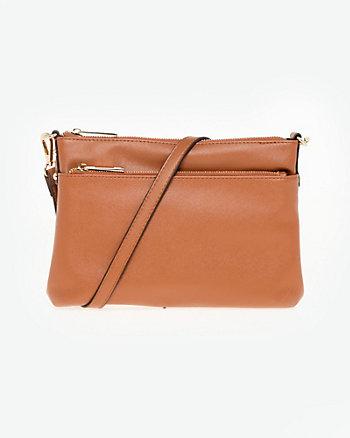 Textured Leather-Like Crossbody Bag