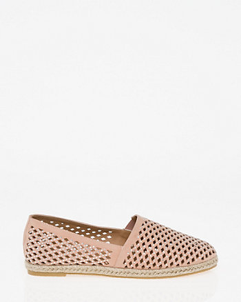 Jewel Embellished Laser Cut Espadrille