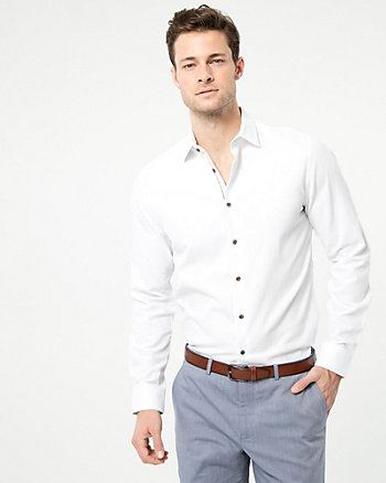 Cotton Piqué Athletic Fit Shirt