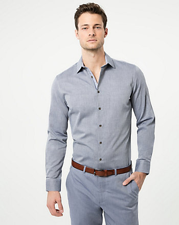 Cotton Piqué Athletic Fit Shirt