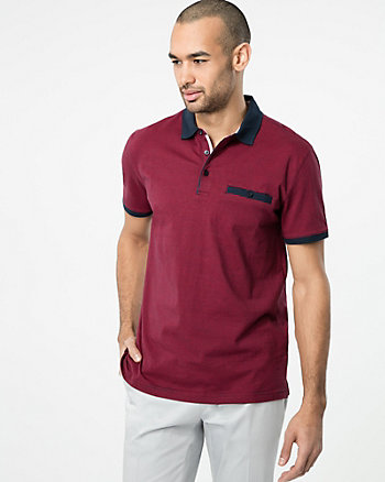 Stripe Cotton Polo Top