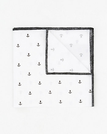 Anchor Print Cotton Pocket Square