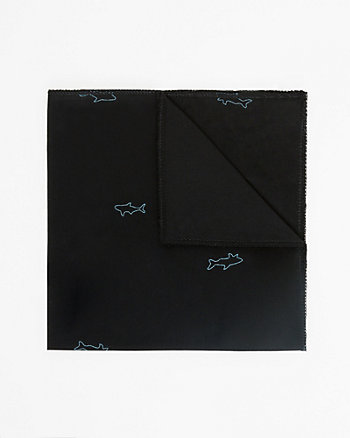 Shark Print Cotton Pocket Square