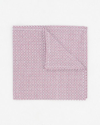 Novelty Print Cotton Pocket Square