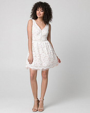Lace V-Neck Party Dress