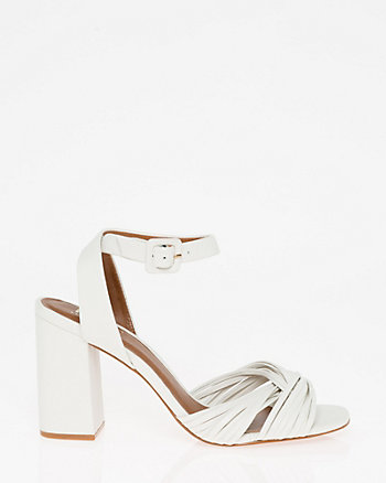 Brazilian-Made Leather Ankle Strap Sandal