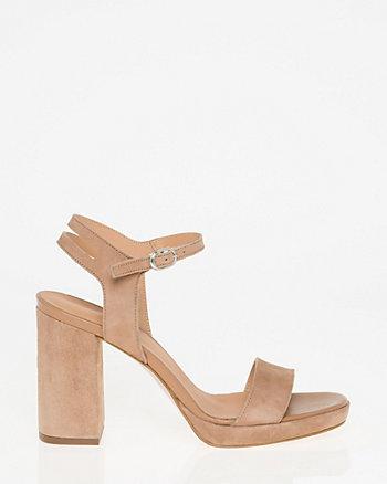 Suede Open Toe Platform Sandal