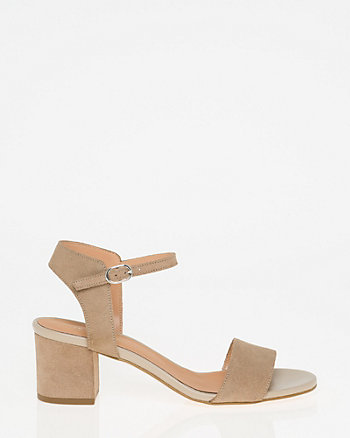 Italian-Designed Suede Ankle Strap Sandal