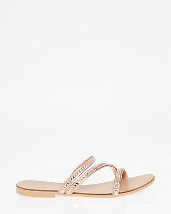 Italian-Made Jewel Embellished Sandal