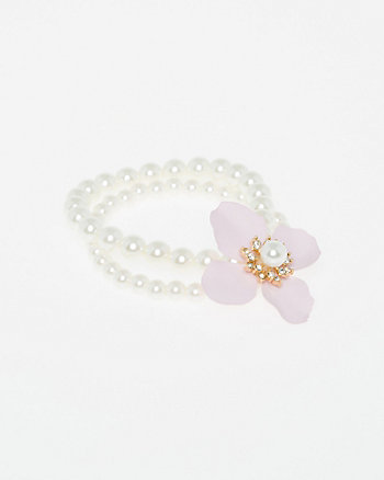 Floral Gem Stretch Bracelet