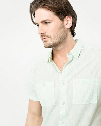 Cotton Slub Tailored Fit Shirt