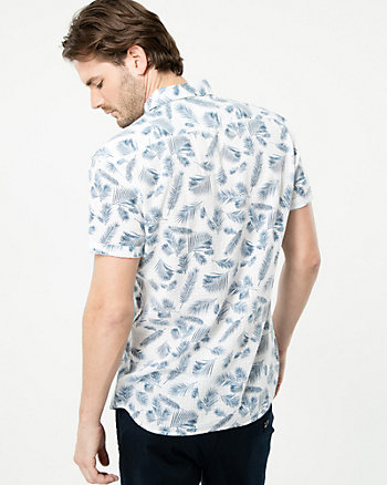 Palm Tree Print Tailored Fit Shirt