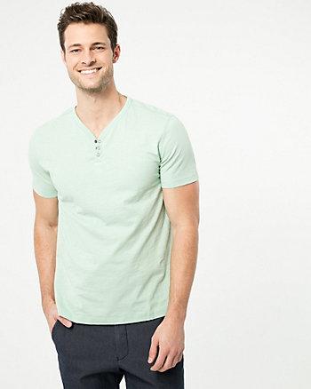 T-shirt en tricot de coton à fil flammé