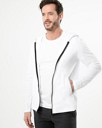 Veste à capuchon en tricot coupé-cousu