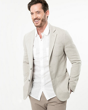 Knit Piqué Contemporary Fit Blazer
