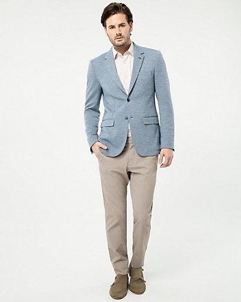 Tonal Piqué Slim Fit Blazer