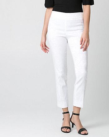 Jacquard Slim Leg Crop Pant