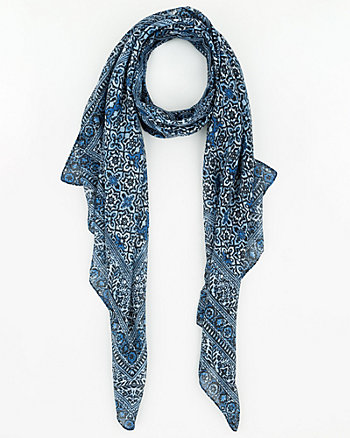Printed Woven Lightweight Scarf