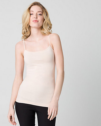 Cotton Blend Scoop Neck Camisole