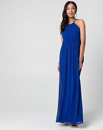 Chiffon Halter Gown