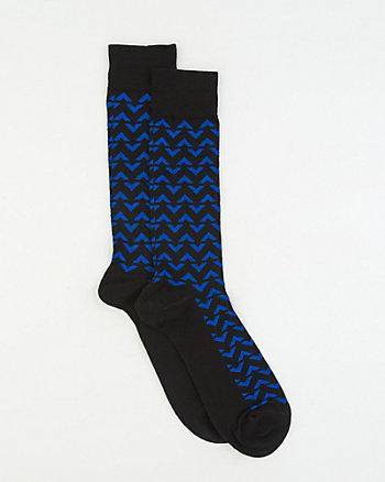 Chevron Print Bamboo Blend Socks