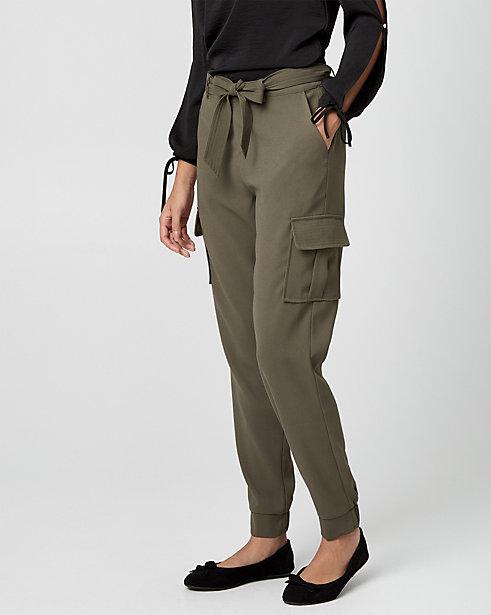 Belted Crêpe Slim Leg Pant STYLE: 354486