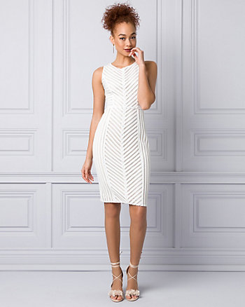 Ribbon Lace Scoop Neck Dress
