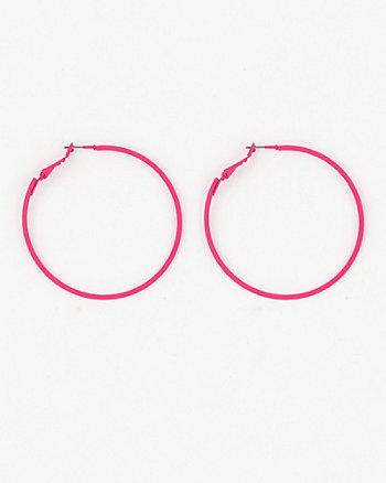 Plastic Hoop Earrings