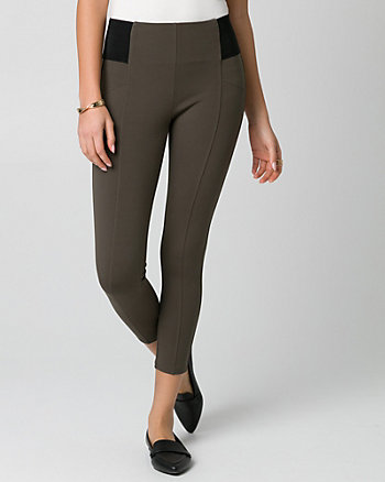 Pantalon court en tricot point de Rome