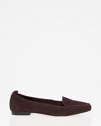 Suede Pointy Toe Loafer