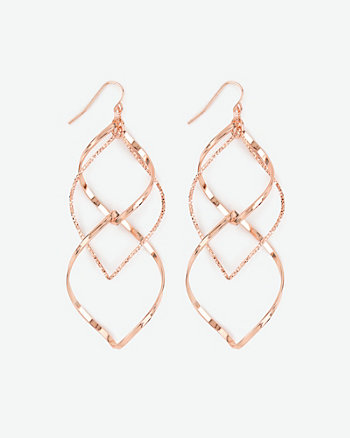 Metal Twist Earrings