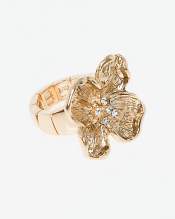 Flower Metal Stretch Ring