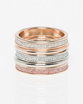 Five Glitter Rings