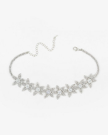 Flower Gem Choker Necklace