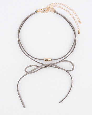 Suede-Like Choker Necklace
