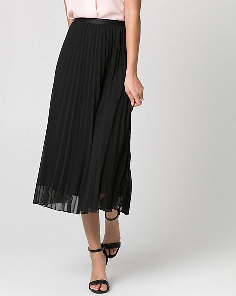 LE CHÂTEAU: Chiffon Pleated Skirt