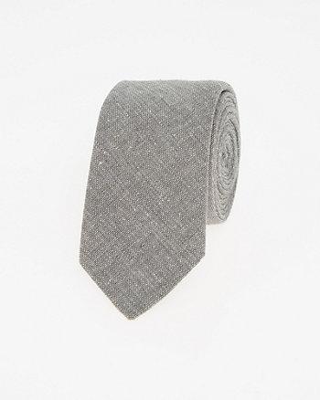 Linen Blend Skinny Tie