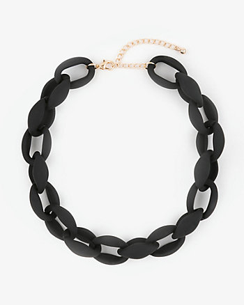 Chain Link Collarbone Necklace