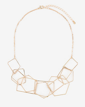 Metal Octagon Collarbone Necklace