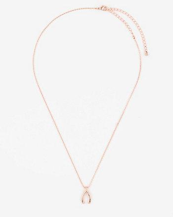 Wishbone Pendant Necklace