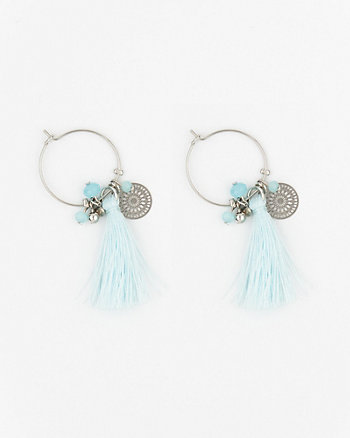 Tassel & Coin Hoop Earrings