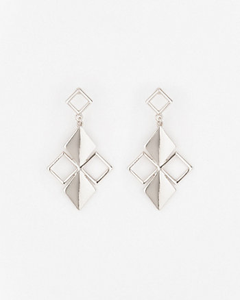 Metal Trapezoid Earrings