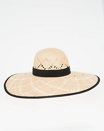 Two-Tone Woven Brim Hat