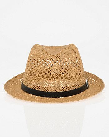Woven Fedora Hat
