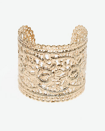 Metal Filigree Cuff Bracelet