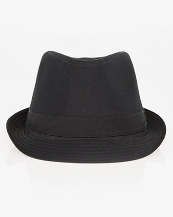 Two-Tone Viscose Blend Fedora Hat